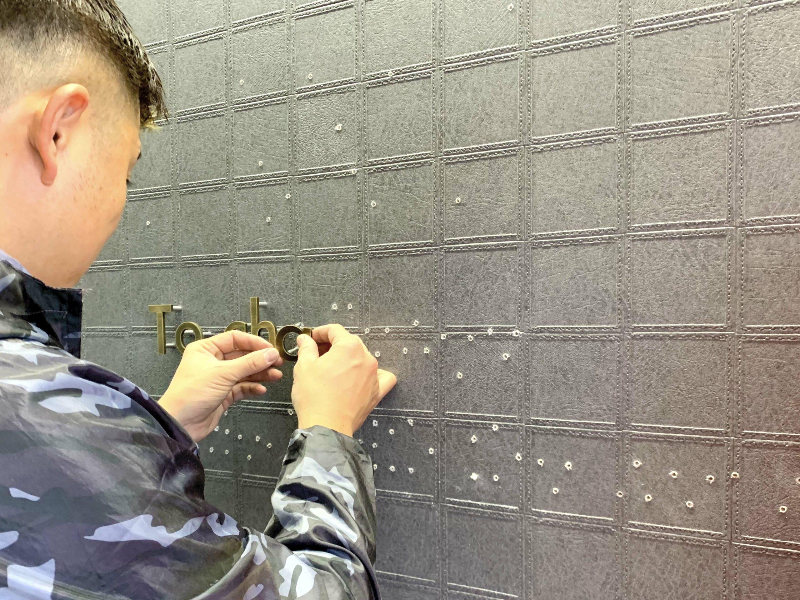 施工風景|浮き文字看板|切り文字看板